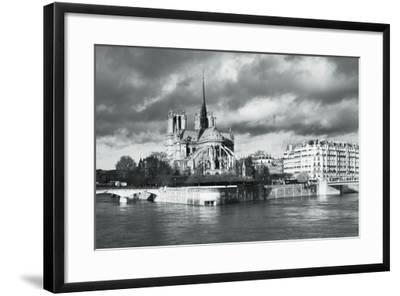 Notre Dame Cathedral on the River Seine, Paris, Ile De France, France, Europe-Markus Lange-Framed Photographic Print