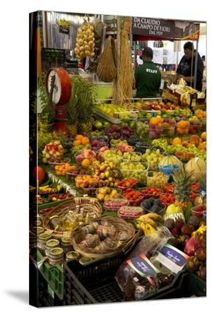 Fruit and Vegetable Stall at Campo De Fiori Market, Rome, Lazio, Italy, Europe-Peter Barritt-Stretched Canvas Print