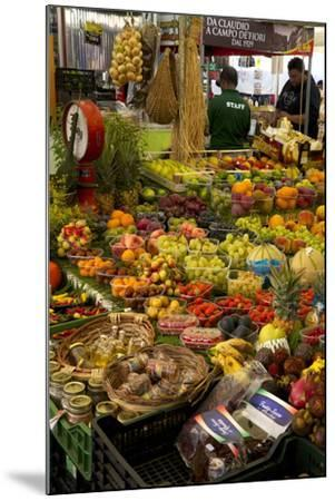 Fruit and Vegetable Stall at Campo De Fiori Market, Rome, Lazio, Italy, Europe-Peter Barritt-Mounted Photographic Print