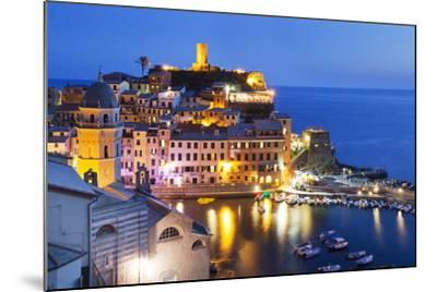 Vernazza at Dusk, Cinque Terre, UNESCO World Heritage Site, Liguria, Italy, Mediterranean, Europe-Mark Sunderland-Mounted Photographic Print