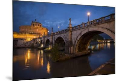 Pont Sant' Angelo and Castel Sant' Angelo at Dusk, Rome, Lazio, Italy, Europe-Ben Pipe-Mounted Photographic Print