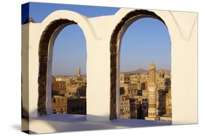 Old City of Sanaa, UNESCO World Heritage Site, Yemen, Middle East-Bruno Morandi-Stretched Canvas Print