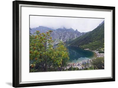 Lake Morskie Oko (Eye of the Sea), Zakopane, Carpathian Mountains, Poland, Europe-Christian Kober-Framed Photographic Print
