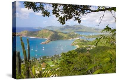 View of English Harbour from Shirley Heights-Frank Fell-Stretched Canvas Print