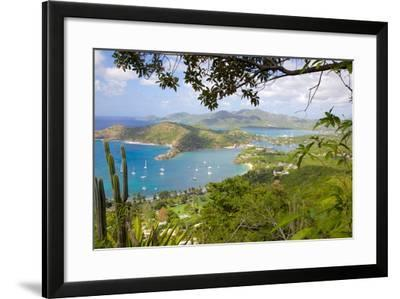 View of English Harbour from Shirley Heights-Frank Fell-Framed Photographic Print