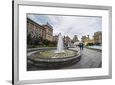 Maidan Nezalezhnosti Center of Kiev (Kyiv), Ukraine, Europe-Michael Runkel-Framed Photographic Print