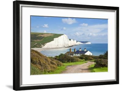 The Seven Sisters Chalk Cliffs and Coastguard Cottages-Neale Clark-Framed Photographic Print