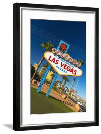 Welcome to Fabulous Las Vegas Sign, Las Vegas, Nevada, United States of America, North America-Alan Copson-Framed Photographic Print