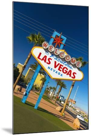 Welcome to Fabulous Las Vegas Sign, Las Vegas, Nevada, United States of America, North America-Alan Copson-Mounted Photographic Print