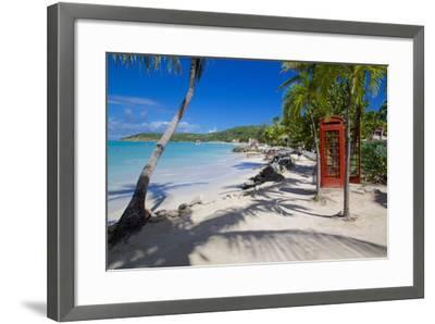 Beach and Red Telephone Box-Frank Fell-Framed Photographic Print