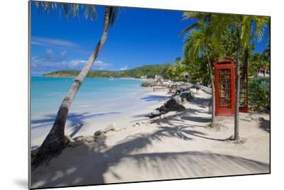 Beach and Red Telephone Box-Frank Fell-Mounted Photographic Print