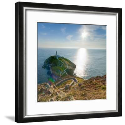 South Stack Lighthouse, Holy Island, Anglesey, Gwynedd, Wales, United Kingdom, Europe-Alan Copson-Framed Photographic Print