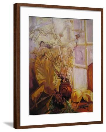Spray in a Vase, Tuscany Window-John Erskine-Framed Giclee Print