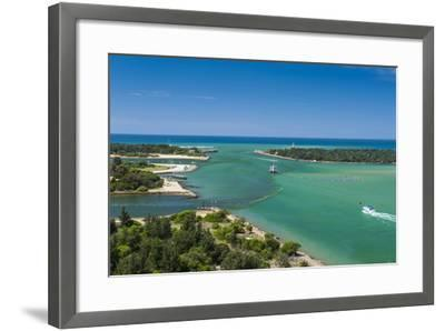 Turquoise Waters at Lakes Entrance, Victoria, Australia, Pacific-Michael Runkel-Framed Photographic Print