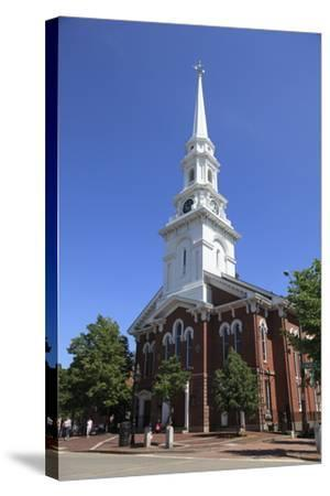 North Church, Portsmouth, New Hampshire, New England, United States of America, North America-Wendy Connett-Stretched Canvas Print