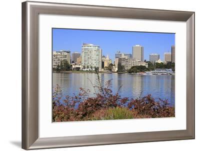 Oakland Skyline and Lake Merritt, Oakland, California, United States of America, North America-Richard Cummins-Framed Photographic Print