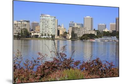 Oakland Skyline and Lake Merritt, Oakland, California, United States of America, North America-Richard Cummins-Mounted Photographic Print