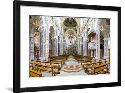 Interior of the Church of Saint Mary of Gesu (Chiesa Del Gesu) (Casa Professa)-Matthew Williams-Ellis-Framed Photographic Print