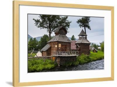 Traditional Rebuilt Houses in the Ewenen Museum in Esso, Kamchatka, Russia, Eurasia-Michael Runkel-Framed Photographic Print