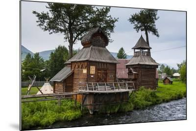 Traditional Rebuilt Houses in the Ewenen Museum in Esso, Kamchatka, Russia, Eurasia-Michael Runkel-Mounted Photographic Print