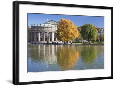 Staatstheater (State Theatre) and Schlosspark in Autumn-Markus Lange-Framed Photographic Print