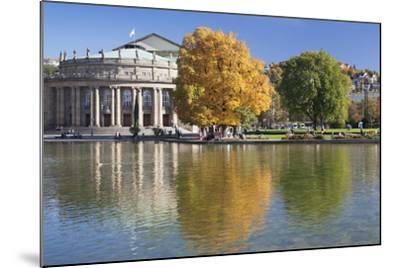 Staatstheater (State Theatre) and Schlosspark in Autumn-Markus Lange-Mounted Photographic Print