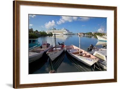 Cruise Ship in St. Johns Harbour-Frank Fell-Framed Photographic Print