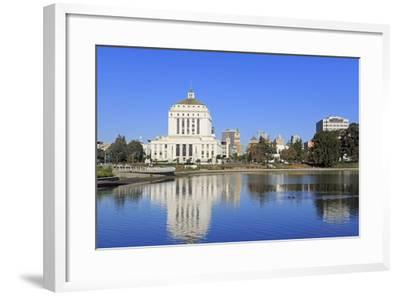 Alameda County Court House and Lake Merritt-Richard Cummins-Framed Photographic Print