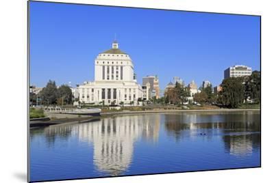 Alameda County Court House and Lake Merritt-Richard Cummins-Mounted Photographic Print