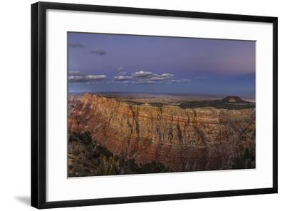 Earth's Shadow, the Blue Band, and Anti-Crepuscular Rays over the Grand Canyon-Babak Tafreshi-Framed Photographic Print