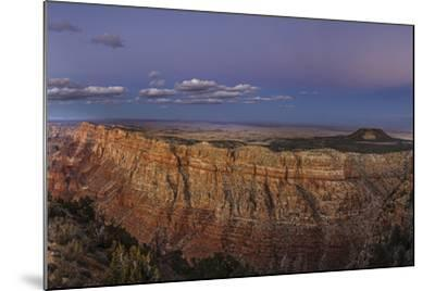 Earth's Shadow, the Blue Band, and Anti-Crepuscular Rays over the Grand Canyon-Babak Tafreshi-Mounted Photographic Print