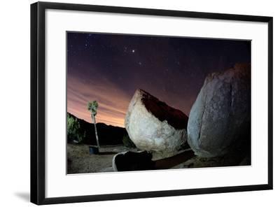 Granite Rocks under Stars in Joshua Tree National Park-Ben Horton-Framed Photographic Print
