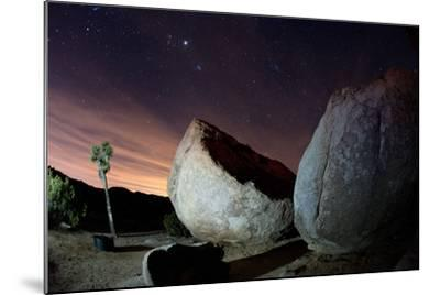 Granite Rocks under Stars in Joshua Tree National Park-Ben Horton-Mounted Photographic Print