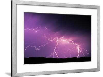 Lightning During a Storm in Yellowstone National Park-Tom Murphy-Framed Photographic Print