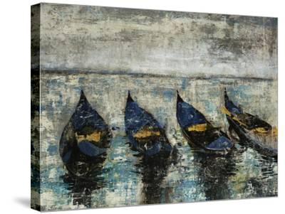 Indigo Boats-Alexys Henry-Stretched Canvas Print