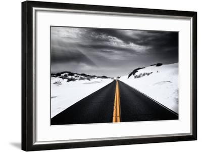 Around the yellow line-Philippe Sainte-Laudy-Framed Photographic Print