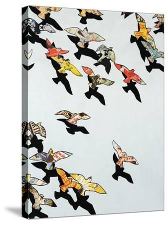 Retro Flight-Sydney Edmunds-Stretched Canvas Print