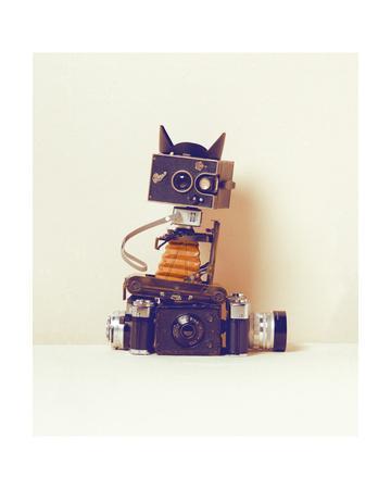 Robot Cat-Ian Winstanley-Framed Giclee Print