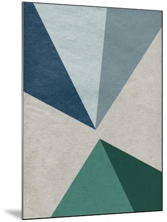 Linen Geometrics E--Mounted Premium Giclee Print