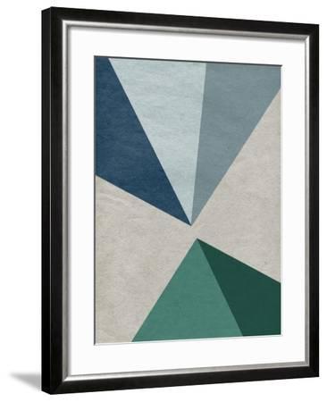 Linen Geometrics E--Framed Premium Giclee Print