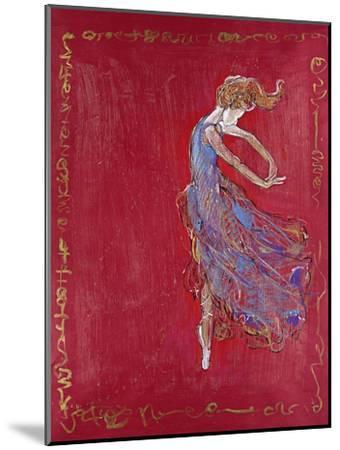 Dancer in Blue IV-Marta Wiley-Mounted Premium Giclee Print