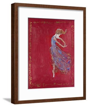 Dancer in Blue IV-Marta Wiley-Framed Premium Giclee Print