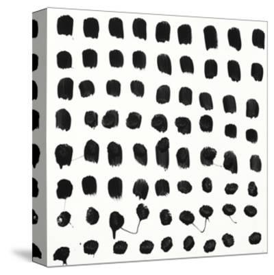 Black and White E-Franka Palek-Stretched Canvas Print