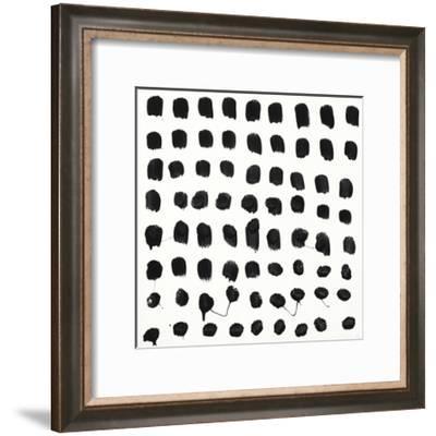 Black and White E-Franka Palek-Framed Premium Giclee Print