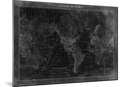 Atlas of the World--Mounted Premium Giclee Print
