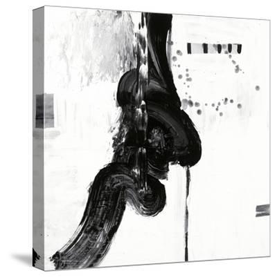 Black and White P-Franka Palek-Stretched Canvas Print