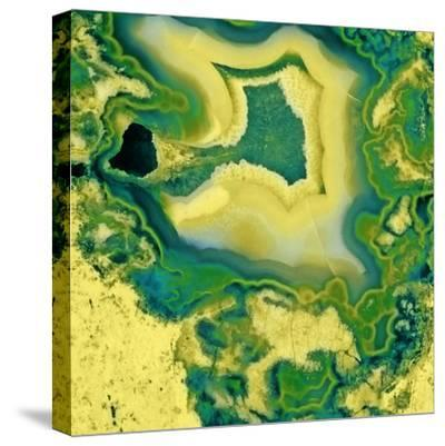 Mineral Rings Geode-GI ArtLab-Stretched Canvas Print