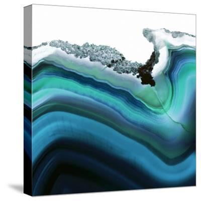 Turquoise Agate A--Stretched Canvas Print