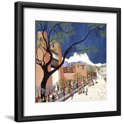 Santa Fe Smiling-Kristin Nelson-Framed Premium Giclee Print
