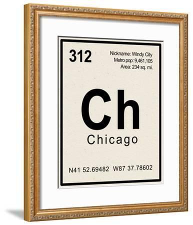 Breaking Chicago--Framed Premium Giclee Print